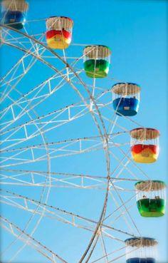 colorful ferris wheels