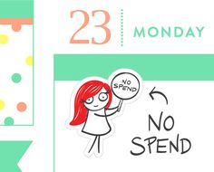 No Spend stickers, planner stickers, money stickers, payday stickers, pay bills stickers, save money, 32 stickers, MINI size, PPC152 by PumpkinPaperCo on Etsy https://www.etsy.com/au/listing/452665350/no-spend-stickers-planner-stickers-money