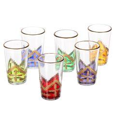"""Orientalische Teegläser gibt es in ganz unterschiedlichen Designs. """"Kresi"""" bunt > www.albena-shop.de"""