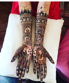 "25k Likes, 201 Comments - WedMeGood (@wedmegood) on Instagram: ""@akanshabakshi had her Mehendi etched with her Jaipur - Mumbai Love story . Find your Mehendi…"""