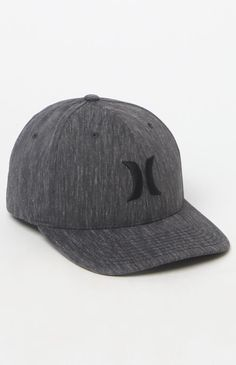 16278f57 Black Suits Black Flexfit Hat Hurley Logo, Hurley Hats, Snug Fit, Black  Suits