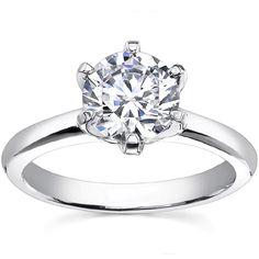 Tiffany-Inspired Round Asha Heavy Tiffany Solitaire Ring