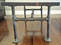 Industrial Pipe and Wood Coffee Table Daniel di DSKIndustrial