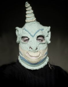 Creepy sci fi and horror inspired custom knitting by Tracy Widdess