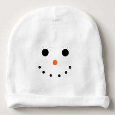 #cute #baby #beanies #babybeanies - #Snowman Baby Beanie