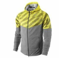22e44fa21e Nike Men s Fanatic Running Jacket Full Zip Hoodie 424245-082 Nike Workout  Gear