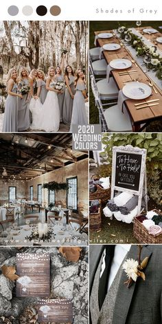 shades of grey modern rustic wedding color combos for 2020 wedding trends shades. shades of grey modern rustic wedding color combos for 2020 wedding trends shades of grey modern rustic wedding color com. Rustic Wedding Colors, Fall Wedding Colors, Rustic Wedding Inspiration, Modern Rustic Weddings, December Wedding Colors, Champagne Wedding Colors, November Wedding, Rustic Theme, Rustic Modern