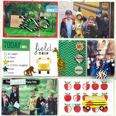 Alice Golden — me & my BIG ideas POCKET PAGES™ field trip zoo scrapbook page