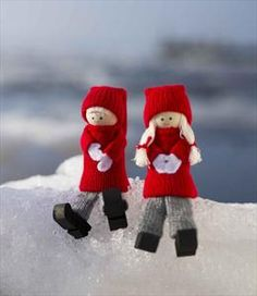 Tomte Boy & Girl ornaments