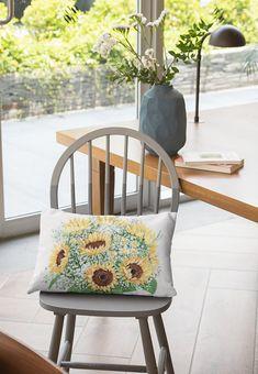 King Pillow Case | Etsy Floral Pillows, White Pillows, Floral Fabric, Floral Prints, Custom Pillow Cases, Custom Pillows, Grey Roses, Pink Roses, Thing 1