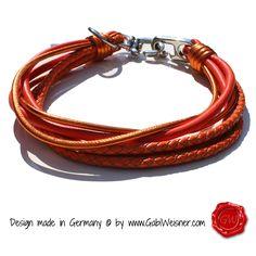 bis 60cm HU • Lederhalsband 6-reihig