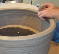 Throwing a Very Large Altered- Bowl | Simplified Way to Throw Large Bowls Lesson