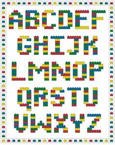 Brick Alphabet Cross Stitch Pattern by SpareTimeCrossStitch