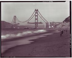 Something about this old photo of the Golden Gate Bridge construction is just mesmerizing to me.