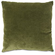 This throw pillow has a luxuriously soft micro velvet texture in a nature inspired moss green color.  #velvet #pillows #throwpillows http://www.readingpillowsplus.com/products/large-throw-pillow-moss-micro-velvet