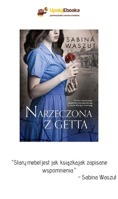 Narzeczona z getta - Sabina Waszut ebook, książka Blond, Cover, Movie Posters, Magick, History, Film Poster, Film Posters, Blankets, Blonde Man