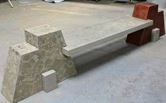 Artisan concrete bench. Collaboration between Buddy and the good folks at Set in Stone.
