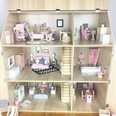 We are having fun this morning styling up our Regency Dollhouse using our new Deluxe junior furniture set and a few other pieces from our range It's the perfect wooden set to fill a dollhouse for a little one this Christmas.