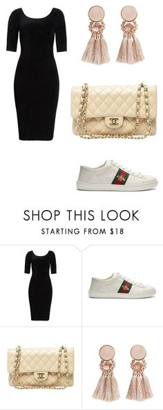 """""""👌"""" by deeplystylish on Polyvore featuring Helmut Lang, Gucci, Chanel and MANGO"""