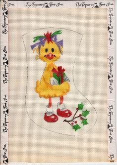Hand Painted Needlepoint Canvas Suzy Zoo Mini by TheRustyNailPail