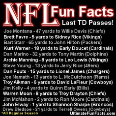 #NFL #trivia #FunFacts #Football #Packers #Broncos #49ers #quarterback #UltimateFunFacts