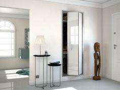 KAZED Portes De Placard Pliantes Mélaminés Châtaigne Et Turquoise - Porte placard coulissante et porte d intérieur pliante