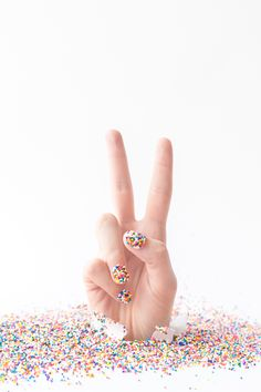 DIY Sprinkle Nails for my ice cream cone costume! Sprinkle Nails, Pastel Photography, Hand Pose, Whatsapp Wallpaper, Nail Photos, Diy Manicure, Manicures, Accent Nails, Commercial Photography