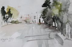 Alameda Vieja / Alameda Vieja - Watercolour / Acuarela