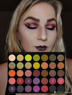 Look by numbers using palette by morphe - Makeup Products New Paleta Morphe, Morphe Eyeshadow, Makeup Morphe, Eyeshadow Looks, Morphe Palette, Eyeshadows, Eyeshadow Palette, Make Up Palette, Pale Skin Makeup