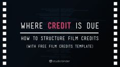 How to Make a Movie Poster [Free Movie Poster Credits Template ...