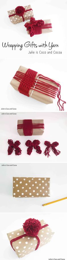 Make your gift stand out from the crowd with these two DIY idea's for wrapping gifts with yarn #L2LMom #ad