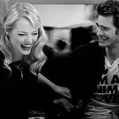 Emma Stone & Andrew Garfield.<3 #MarryherAndrew (: I say there better Spider-Man & Mary-Jane<3