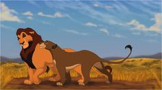 I've always had my own speculations as to how Ahadi and Uru looked.  For those of you who aren't familiar, these two are Scar, aka. Taka and Mufasa's mother and father. I tried to incorperate features from both Mufasa and Scar into their parents. There are a few websites and such out there with ideas on how they look and all but this was just for fun. I haven't done any 'Lion King' based fan art in a veeeerry long time, so it was a nice reprieve.