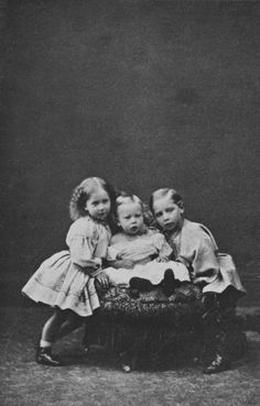 Hills & Saunders - Prince William, Princess Charlotte, & Prince Henry, children of the Crown Prince and Crown Princess of Prussia, Windsor 1863 [in Portraits of Royal Children Vol.7 1863-1864]