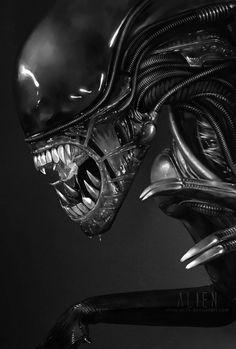 Excelente foto del monstruo Alien, han pasado los años del estreno de su primera película y su saga es espectacular hasta ahora.