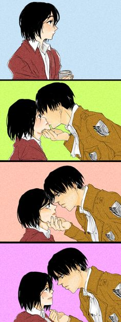 Levi x Mikasa (Rivamika)♥