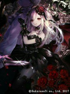 The Daugther From Satan Black Butler Ff Dark Anime Girl, Gothic Anime Girl, Anime Angel Girl, Anime Wolf Girl, Manga Anime Girl, Pretty Anime Girl, Cool Anime Girl, Anime Girl Drawings, Beautiful Anime Girl