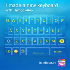 My personalized keyboard made with #RainbowKey