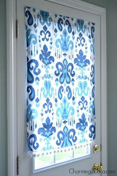 diy magnetic no-sew window blind, Charming Zebra on Remodelaholic