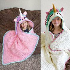 Magical Baby: CROCHET PATTERN - Hooded Unicorn Blanket Pattern (...