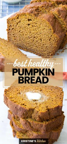 Healthy Sweets, Healthy Dessert Recipes, Healthy Baking, Easy Healthy Deserts, Healthy Fall Recipes, Healthy Breakfast Breads, Healthy Breads, Healthy Cake, Healthy Muffins