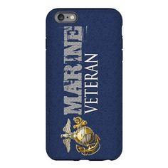 Marine Veteran Blue EGA iPhone Plus 6 Tough Case on CafePress.com
