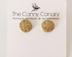 Items similar to Sand Dollar Earrings on Etsy