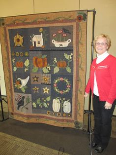 Anne and her Fall Quilt