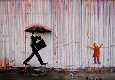 The Best Examples Of Street Art In 2012 And 2013 - Rain by Skurktur, Norway