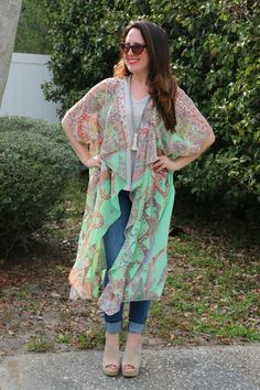 Loving lightweight layers for spring! Kimonos make for perfect layering pieces!