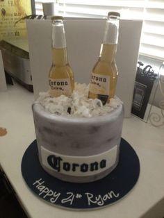 Simple but nice cake for guys 21st birthday Baking Pinterest