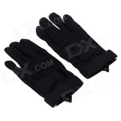 Stylish Outdoor Full-Finger Gloves - Black ( Size-XL / Pair) Price: $13.60