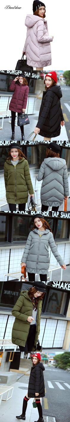 2017 New Women Winter Jacket Women Fashion Padded Coat Hooded Overcoat Women Parka Wadded Casaco Feminino Female Jacket Coat 829 #women'swintercoatsparkas