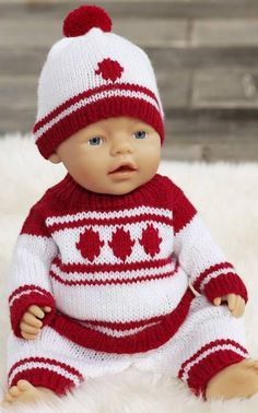 Ravelry: Baby Bornin neuleasu pattern by Minna Metsänen Baby Born Clothes, Crochet Baby Clothes, Girl Doll Clothes, Doll Clothes Patterns, Doll Patterns, Baby Born Kleidung, Baby Pop, Disney Animator Doll, Knitted Dolls